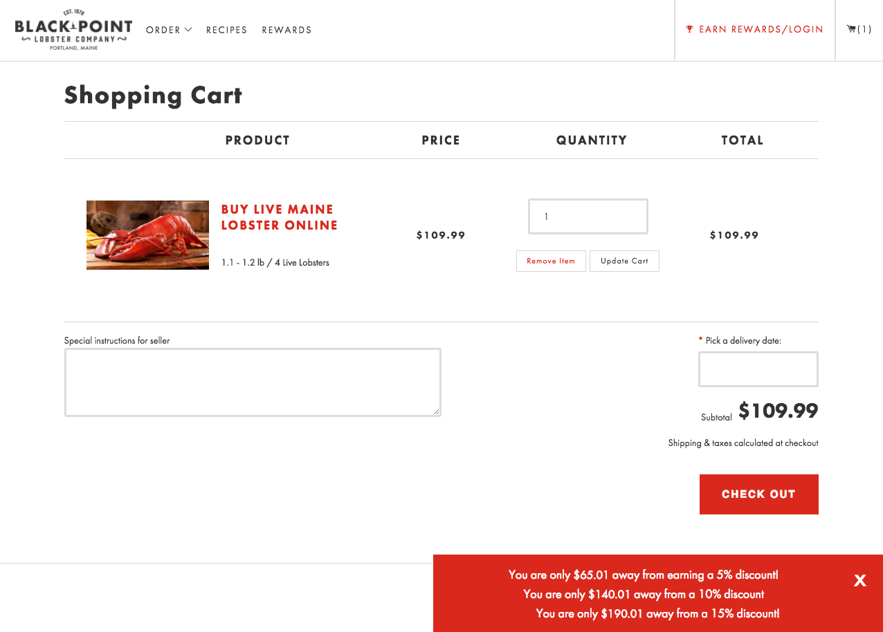 Black point lobster discount