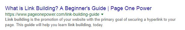 Link building example