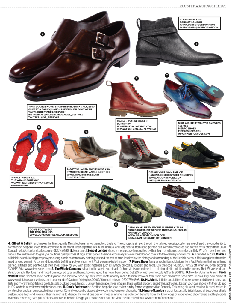 Pierro Shoes GQ feature