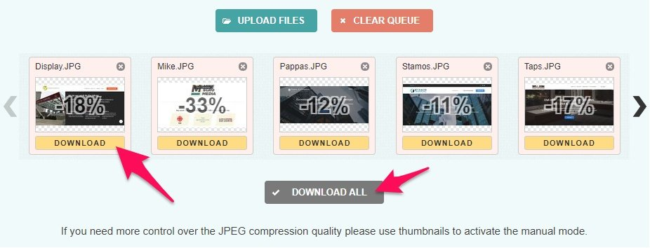 Download images from Compress JPEG
