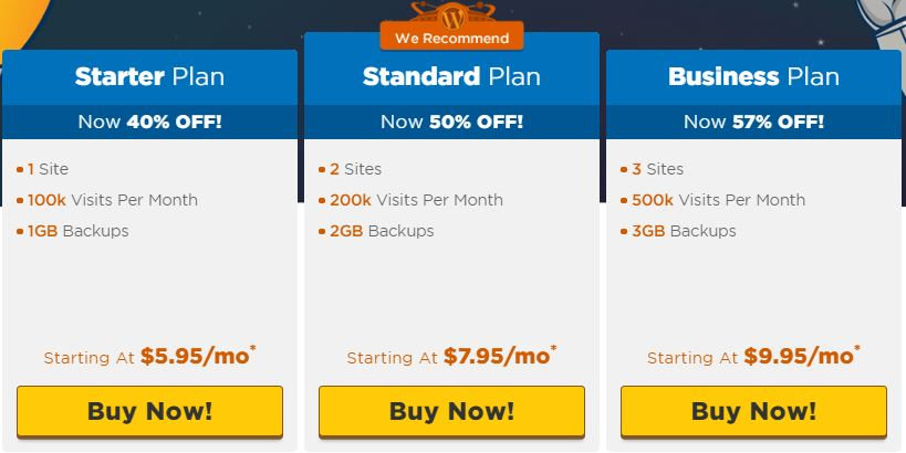Hostgator WordPress plans