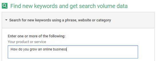 Keyword research with voice