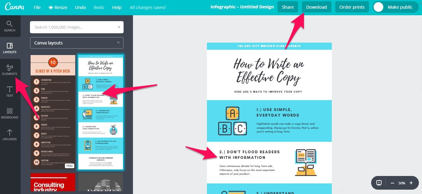 Designing a Canva graphic