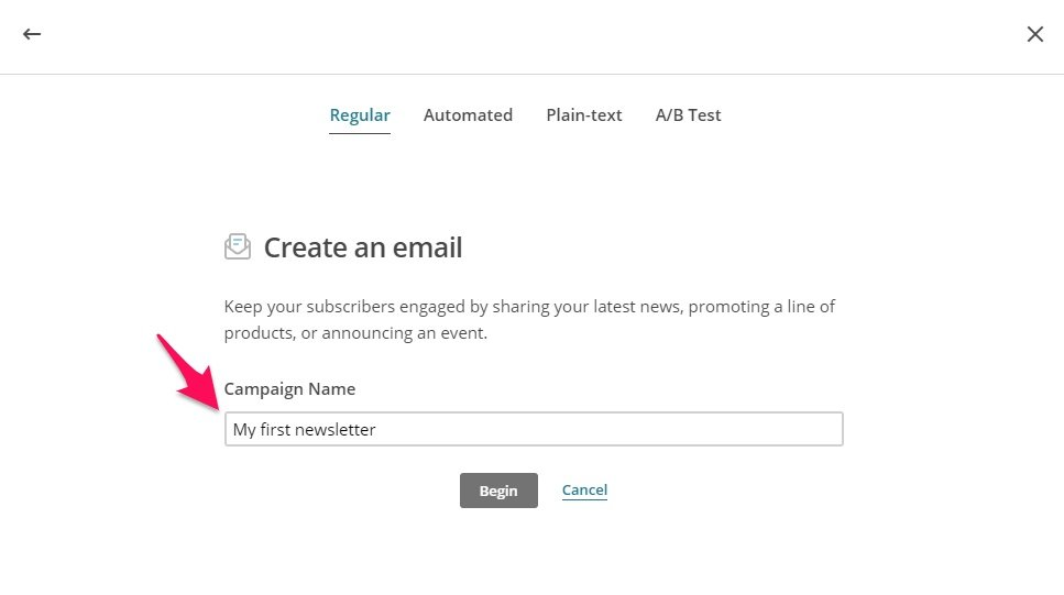 Naming Mailchimp campaign