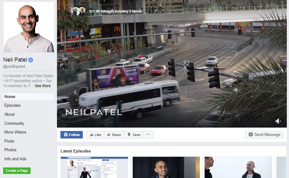 Neil Patel Facebook