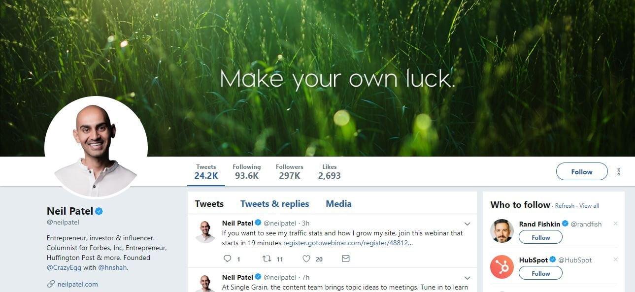 Neil Patel Twitter