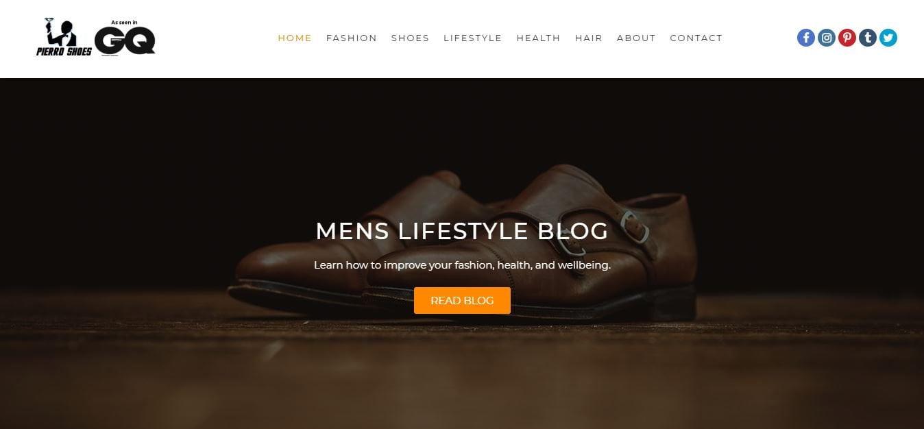 Pierro shoes homepage