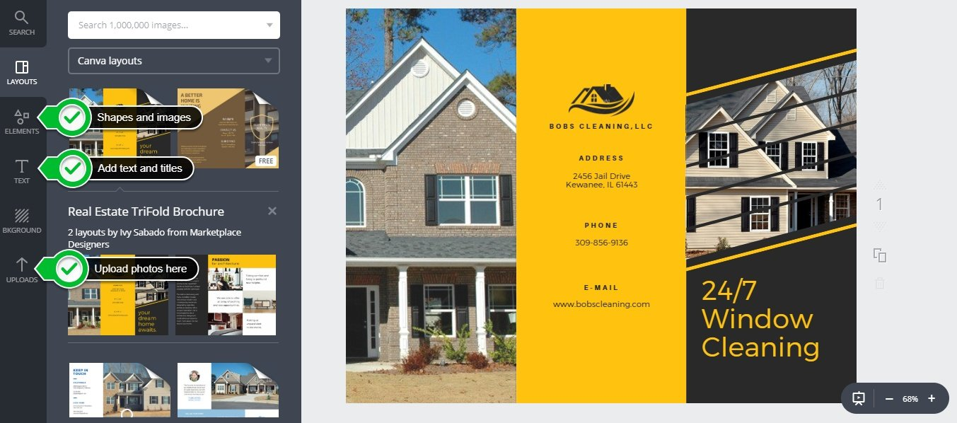 Canva real estate template