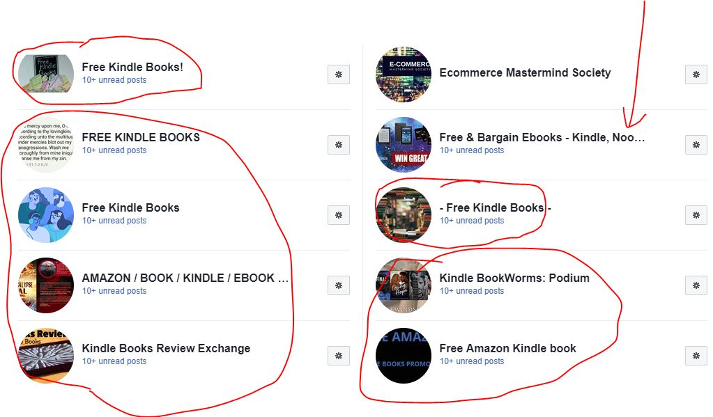 Kindle Facebook groups