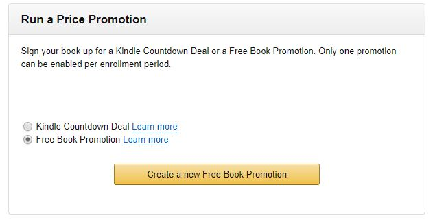 Kindle run a free promotion