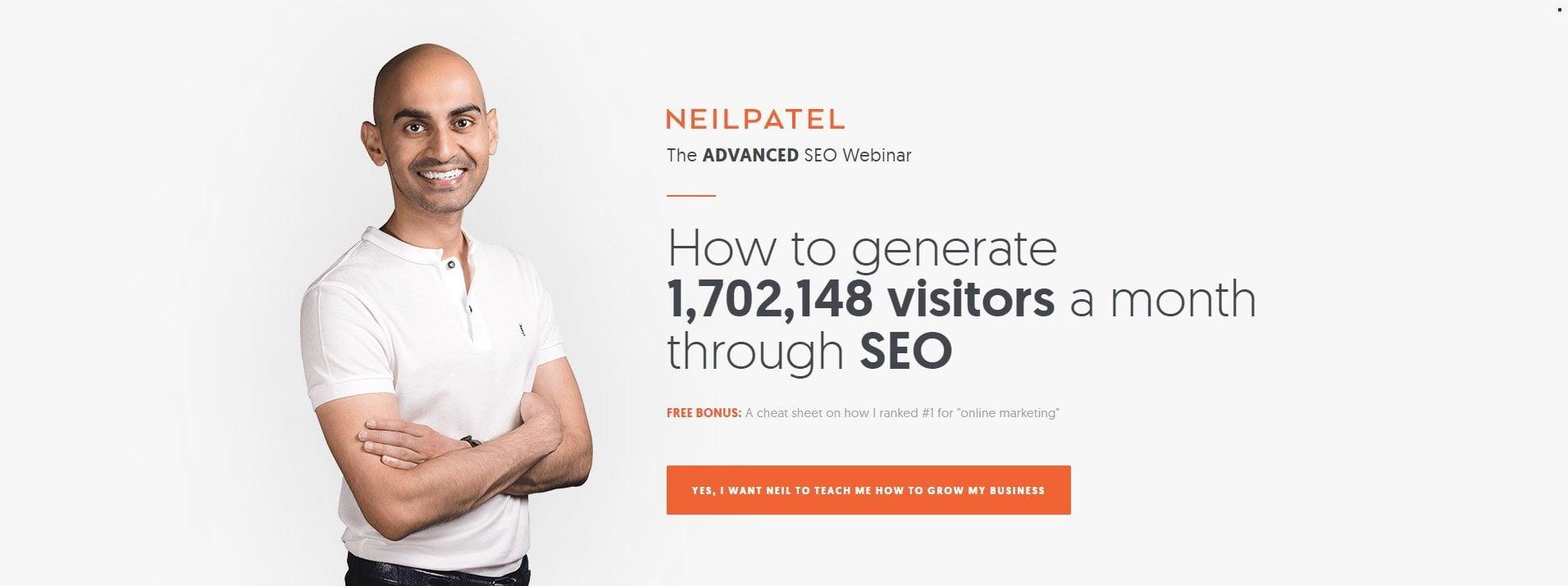 Neil Patel headline example