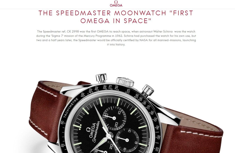 Omega watch headline