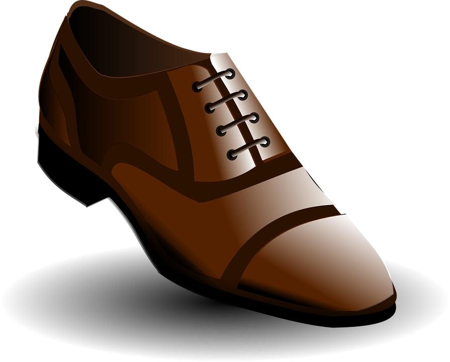 Brown dress shoe