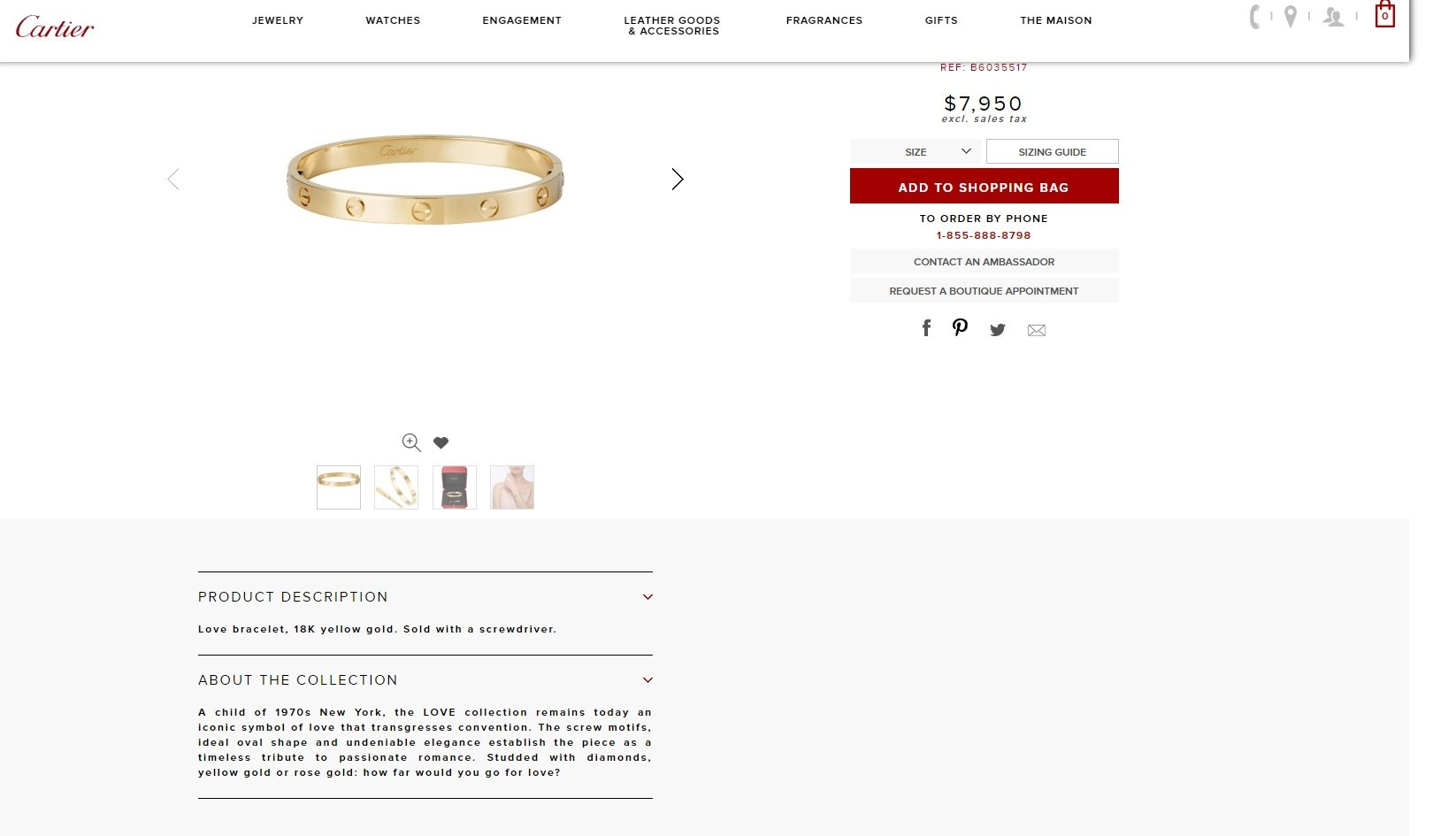 Cartier product description