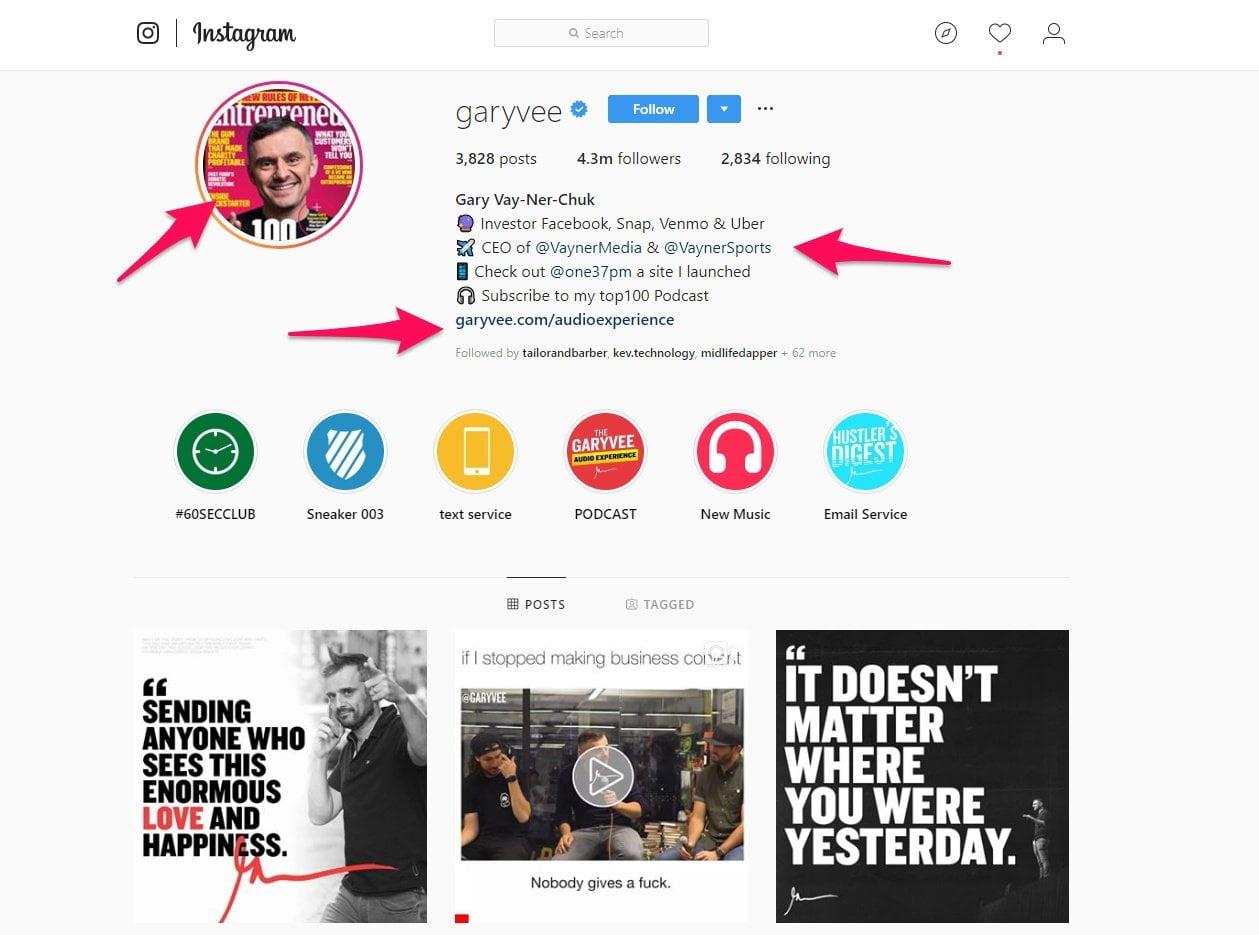 Gary V Instagram