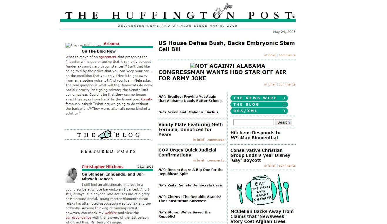 Huffington Post in 2005