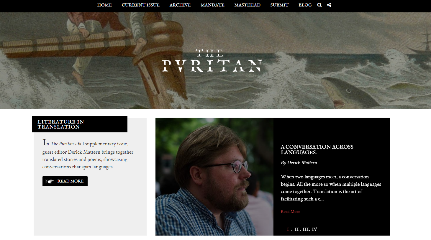 The Puritan magazine home page