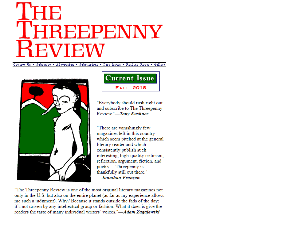 Threepenny review
