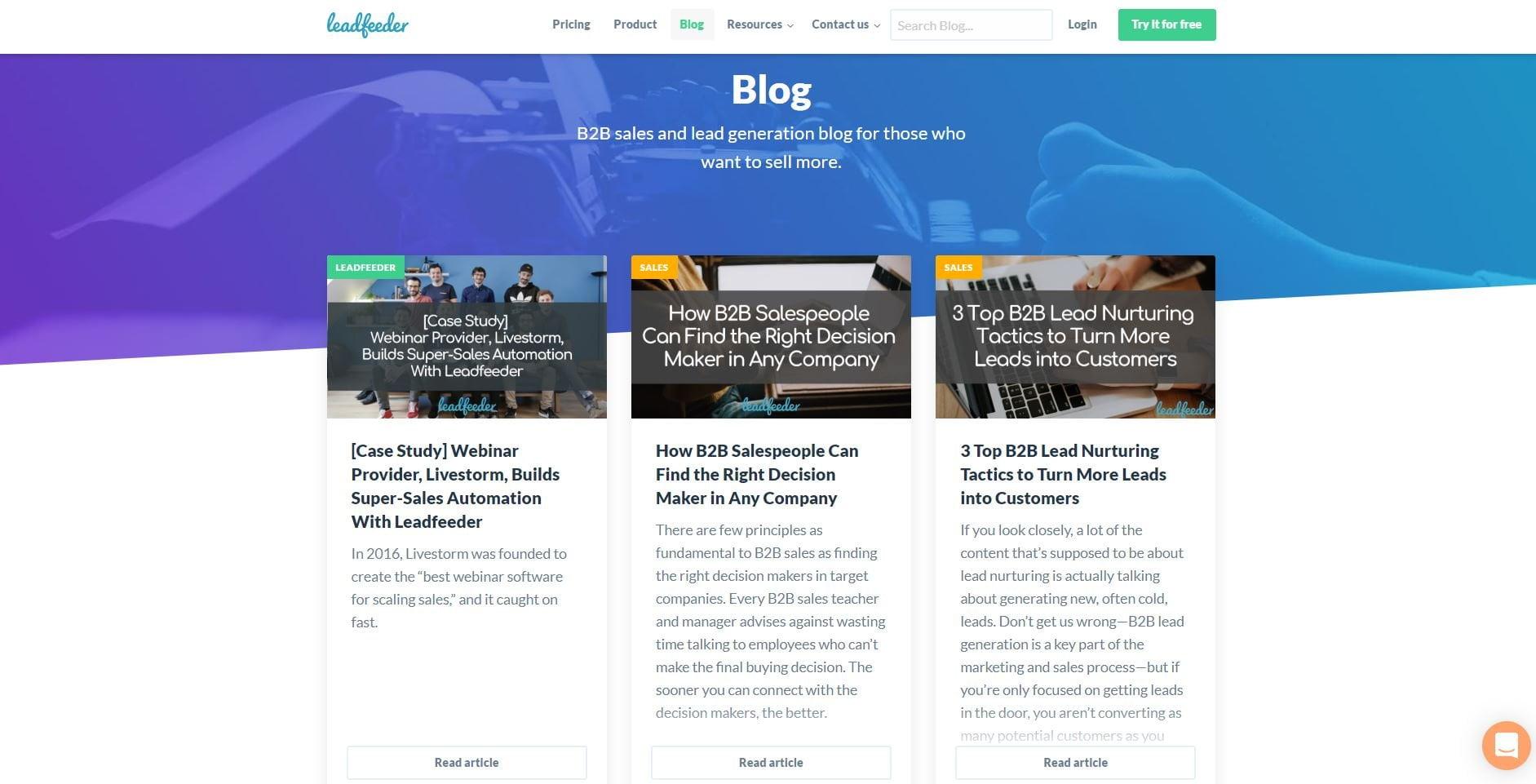 Competitors blog