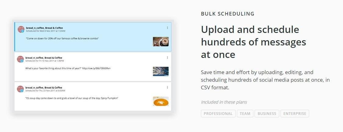 Hootsuite bulk scheduling