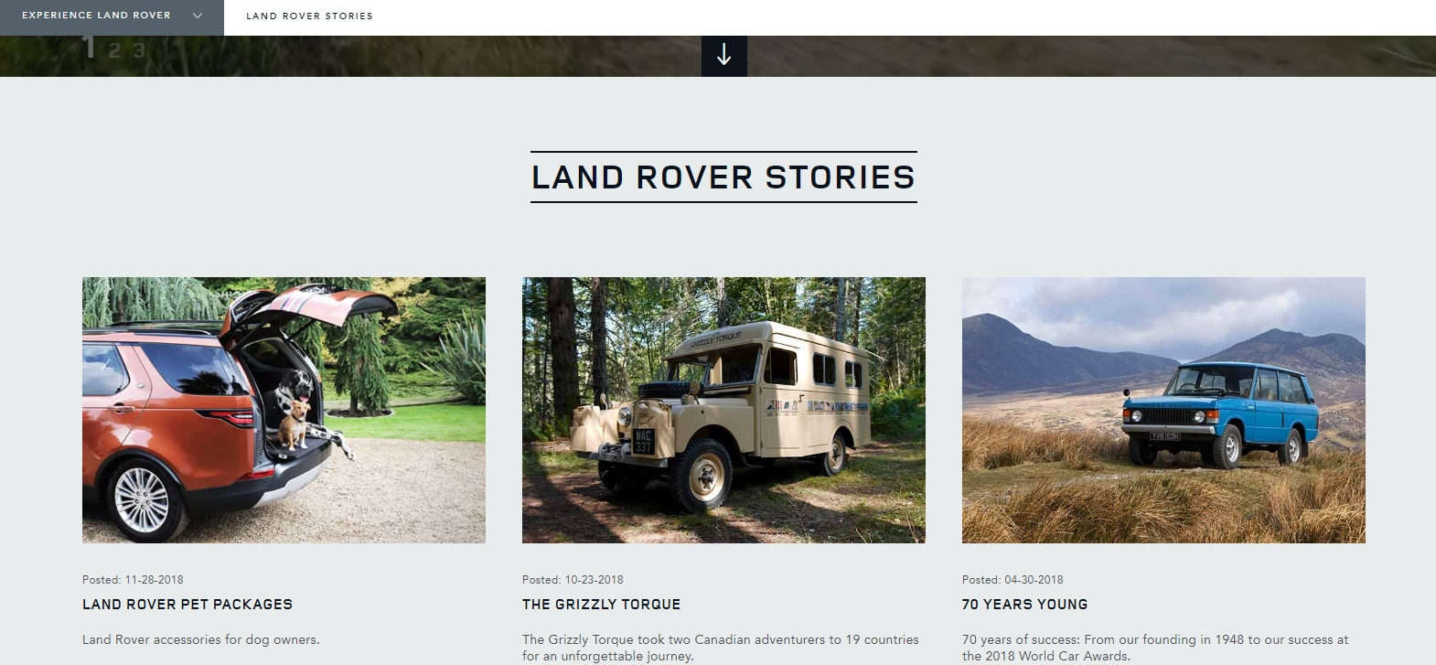 Land Rover stories