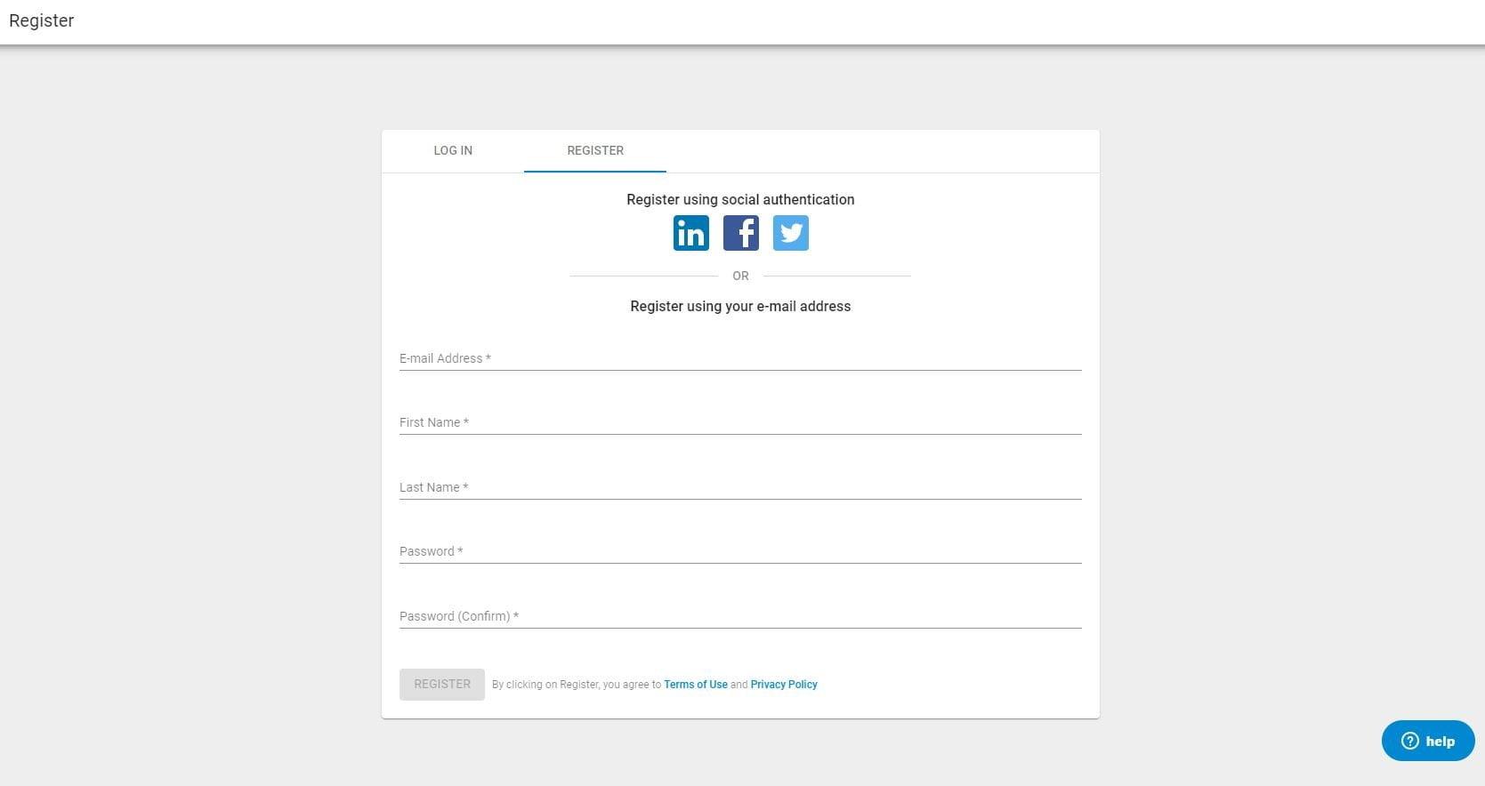 Register Crunchbase