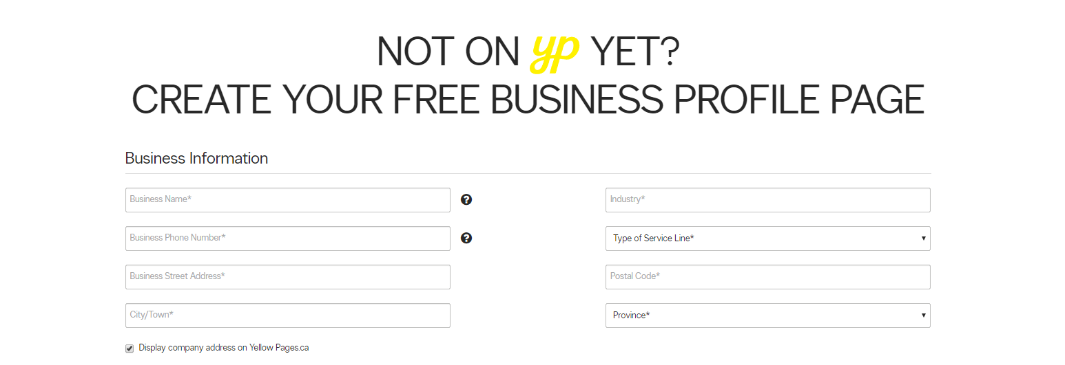 Free listing on YellowPages