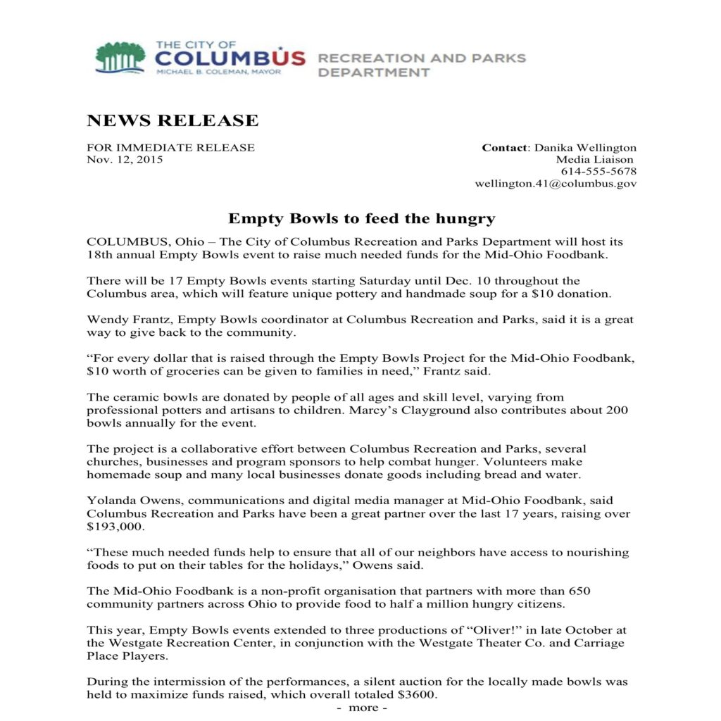 Press release example