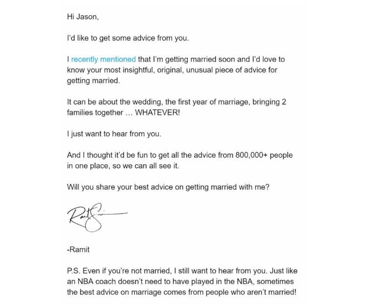 Ramit email