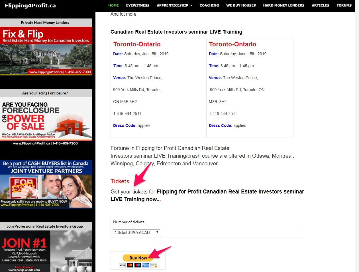 Real estate call to action example