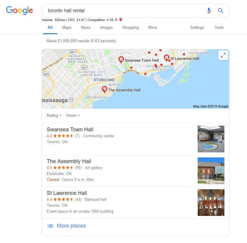 Toronto hall rental