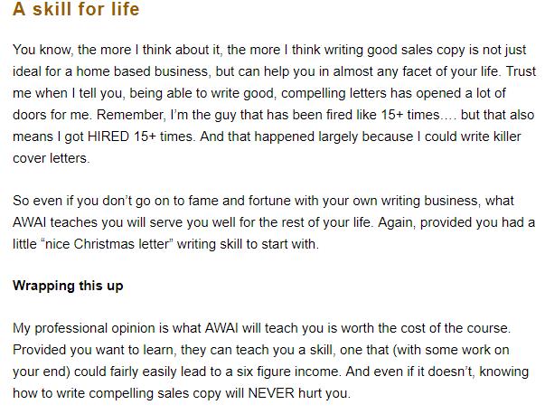 AWAI copywriting course review
