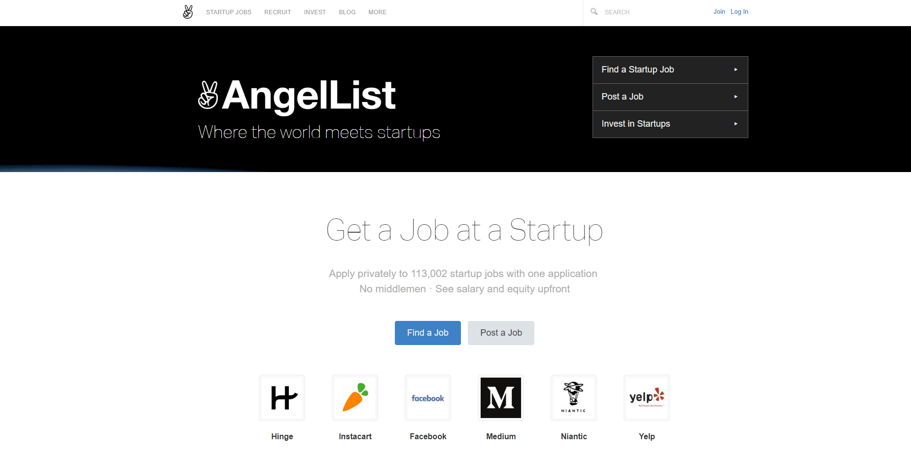 AngelList job posting