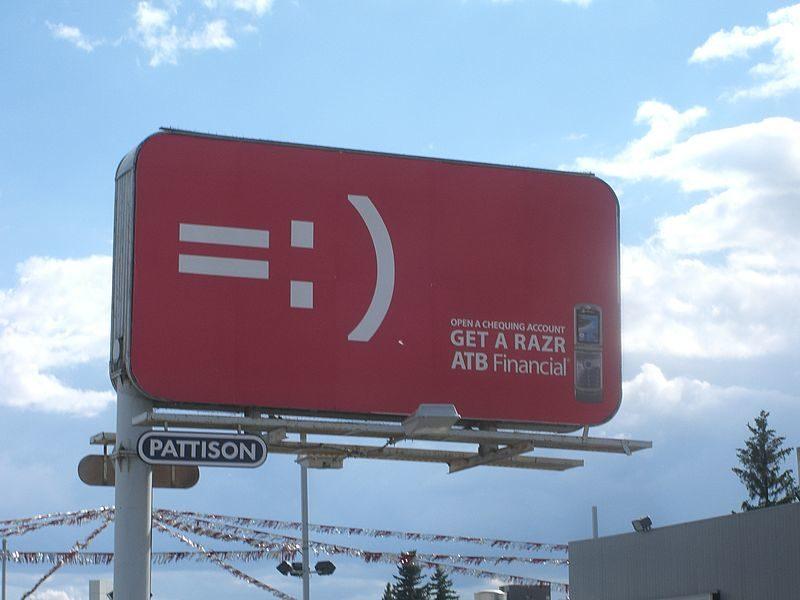 Billboard advertising example