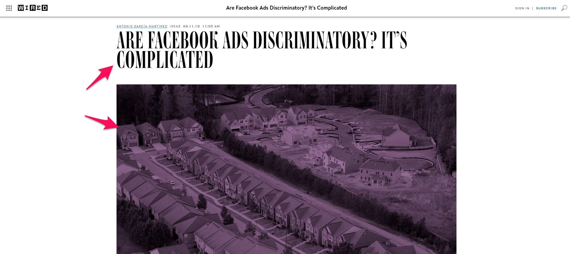 Editorial headline and image