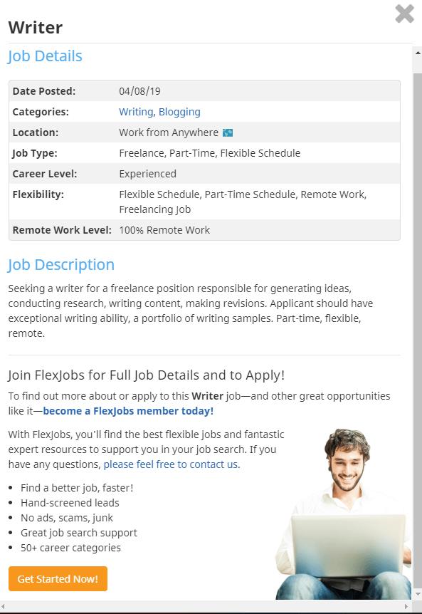 FlexJobs job description