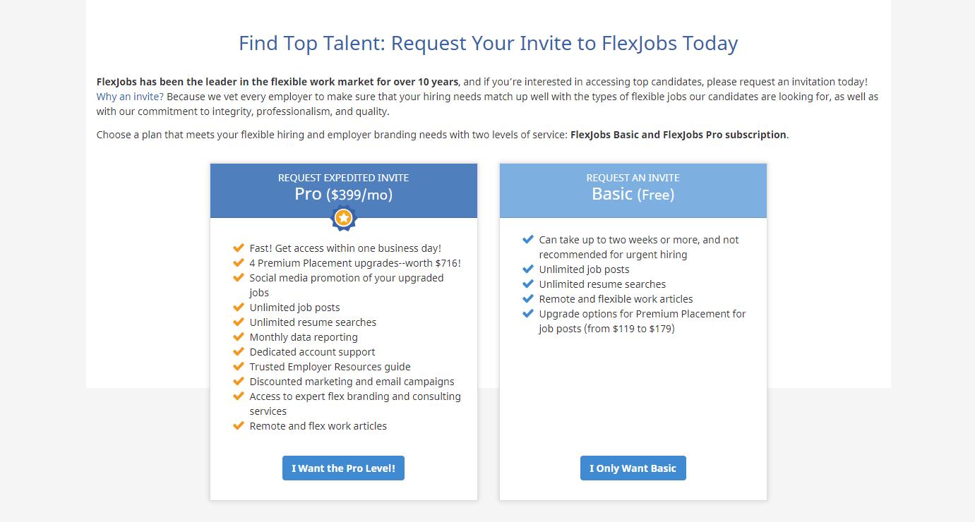 FlexJobs register