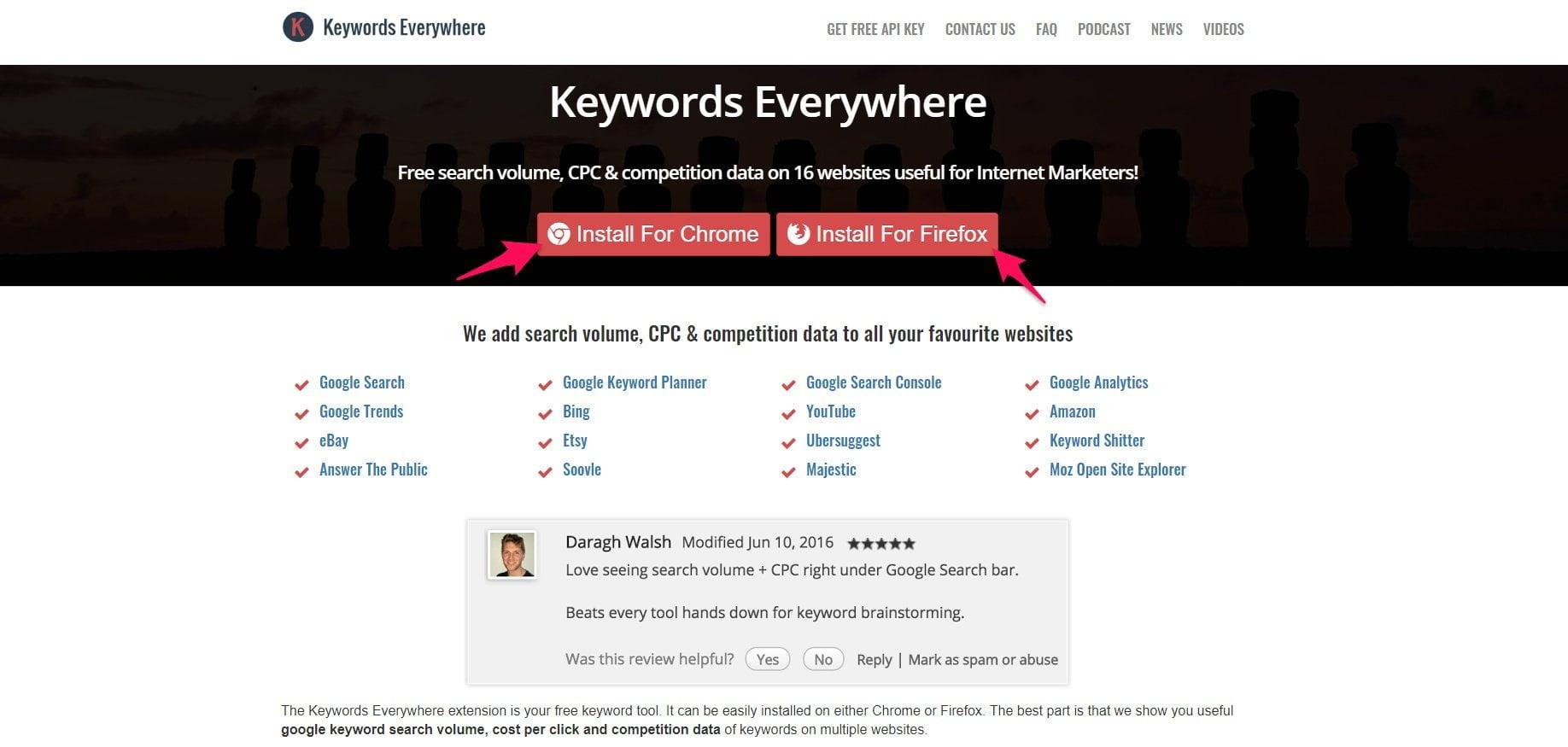 Keywords Everywhere install