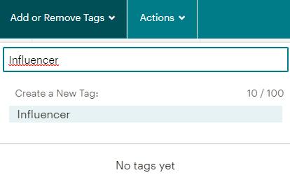 Mailchimp tag