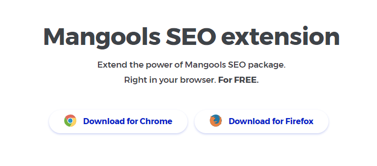 Mangools extension