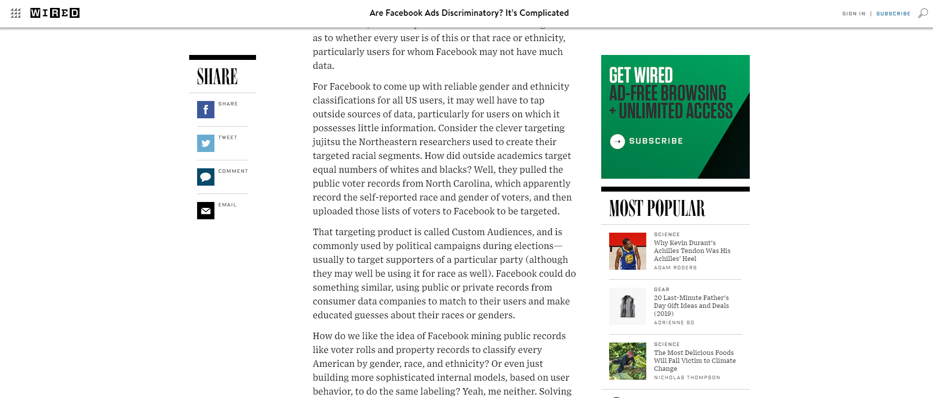 Wired opinion