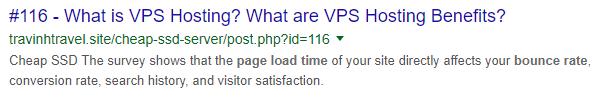 Bad URL example