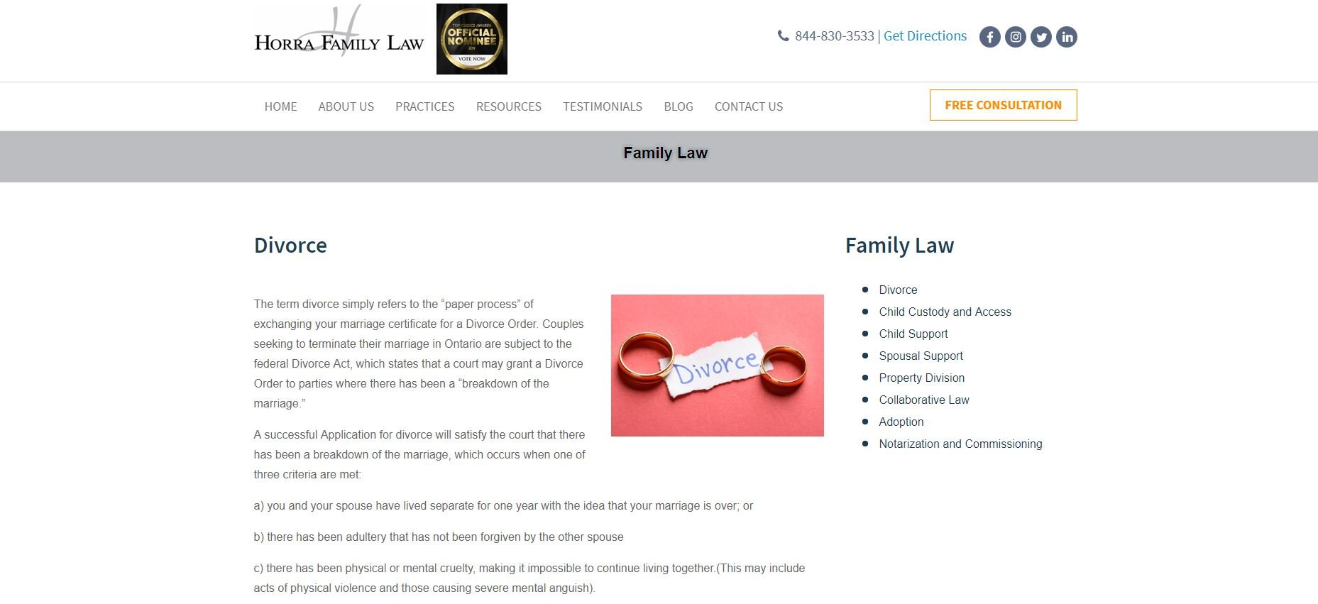 Family law navigation