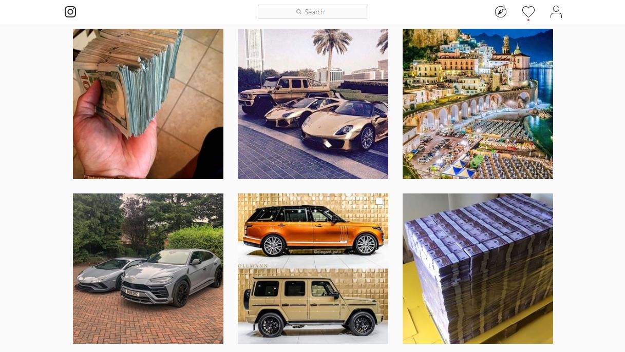 Instagram luxury search