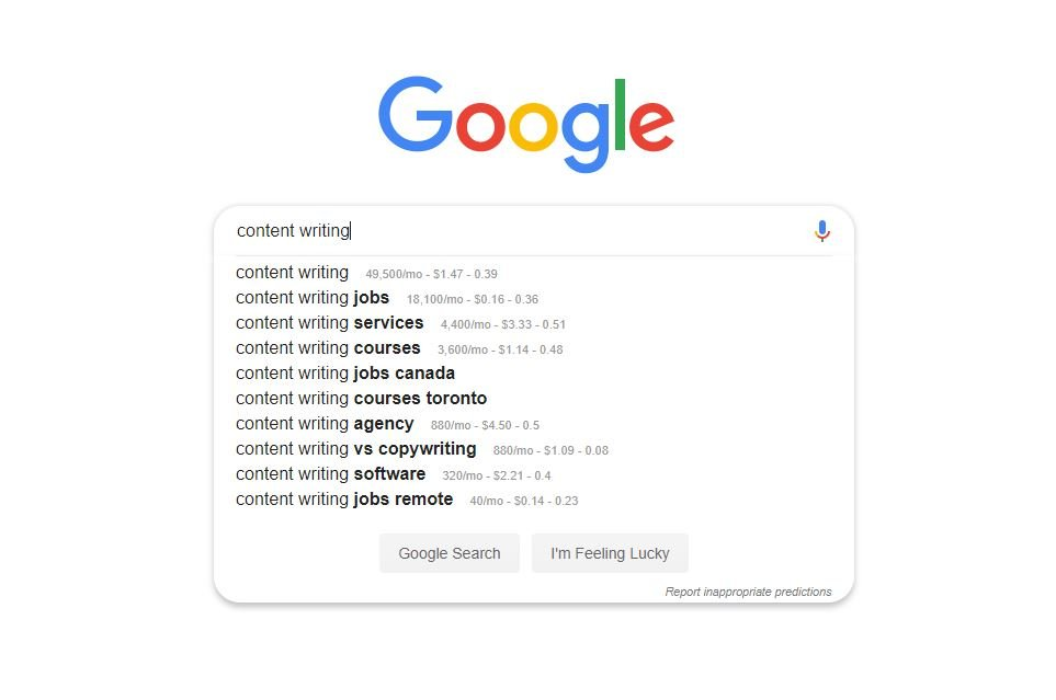 Alphabet soup on Google