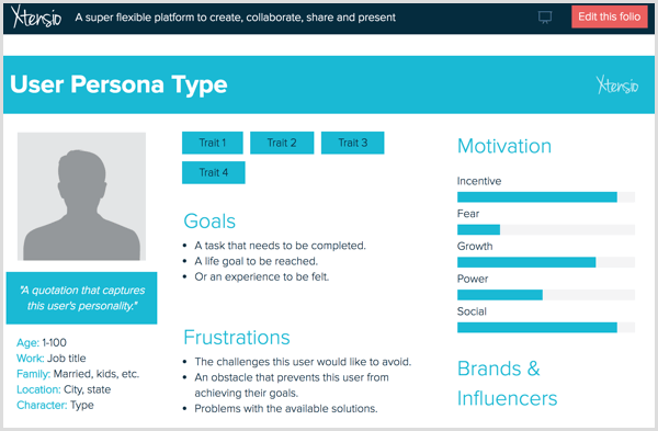 Buyers persona example