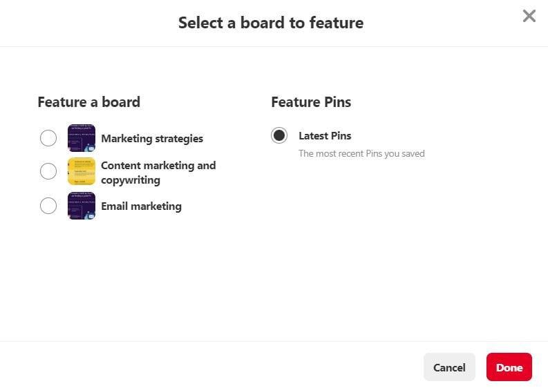 Feature board