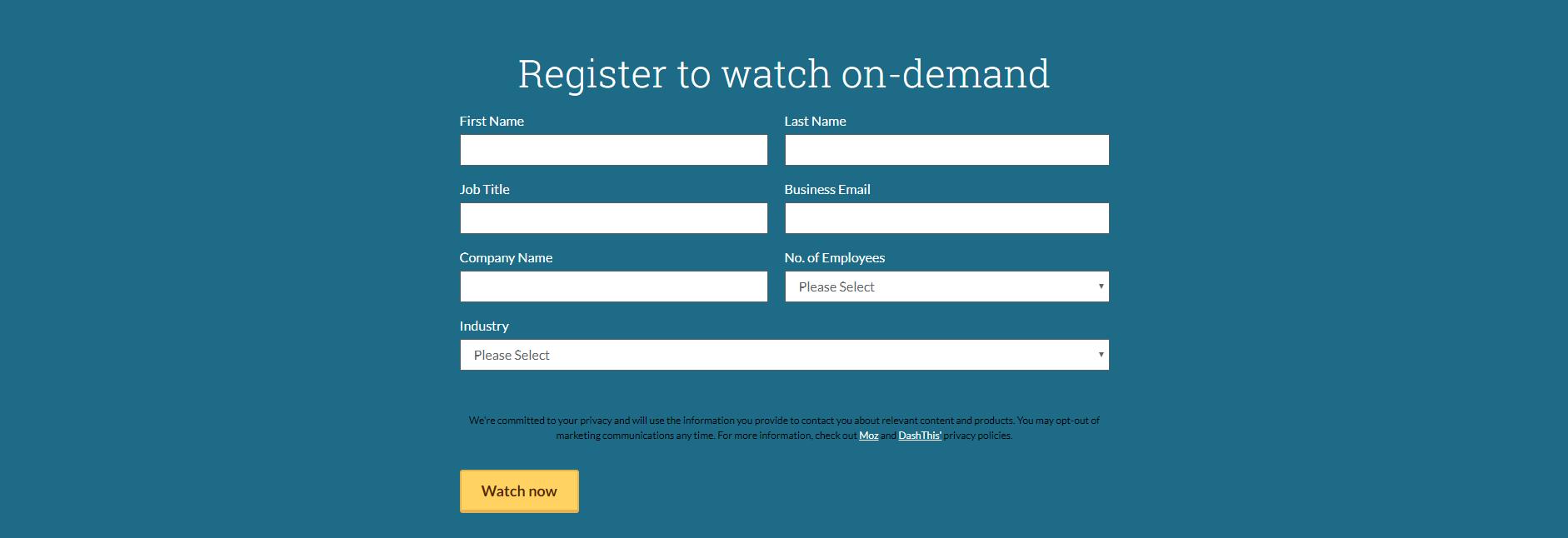 Moz webinar lead magnet