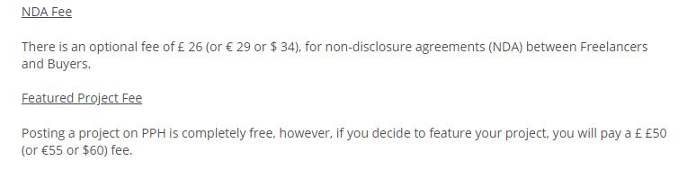 NDA fee