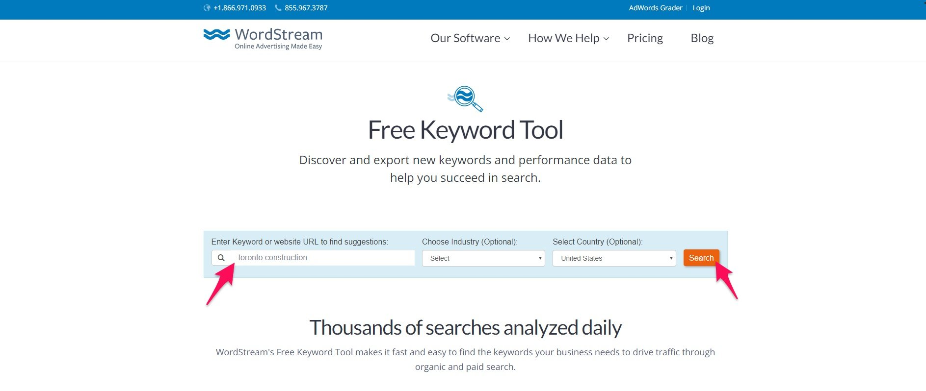 Using WordStream